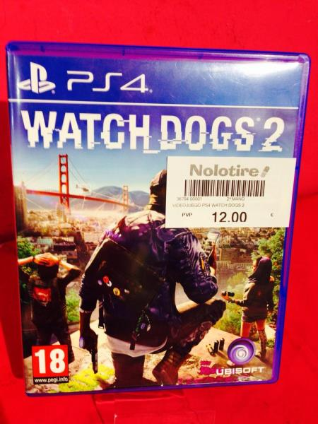 VIDEOJUEGO PS4 WATCH DOGS 2